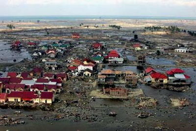 Another devastated area of Banda Aceh, Indonesia