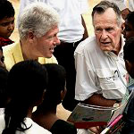 Bill Clinton and George Bush, Sr., Talk With Sri Lankan Children Who Survived the Tsunami