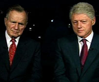 Bill Clinton and George Bush, Sr.
