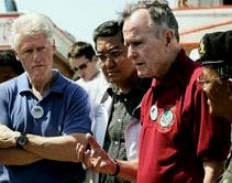 Former U.S. Presidents, Bill Clinton and George Bush, Sr., in Thailand