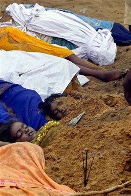 Children are buried in their mass grave