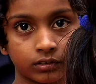 Sanga, A 12-year-old Sri Lankan girl who lost both of her parents in the tsuanmi.